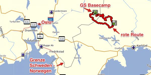 BMW GS Treff Norwegen 2013 - Karte