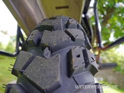 HEIDENAU K60 Scout Enduro Reifen auf BMW R100GS PD