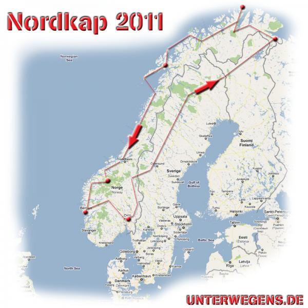 Nordkap Motorradtour BMW R100GS Grobplanung Norwegen 2011