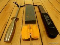 Schärfen von Messer und Axt - richtig scharf