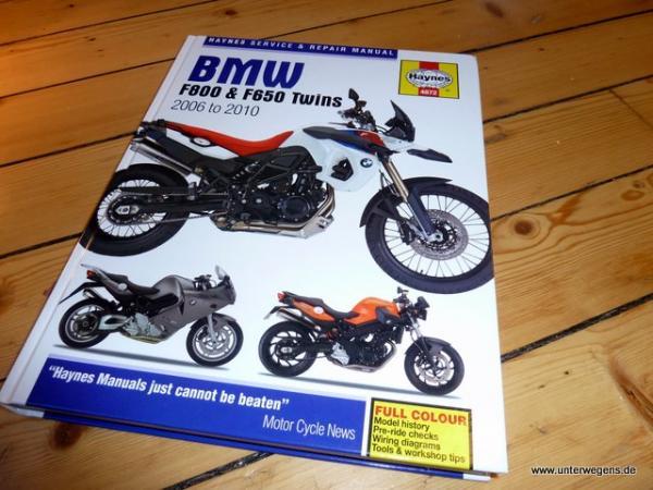 BMW F800GS Reparatur-Service-Handbuch Anleitung Haynes