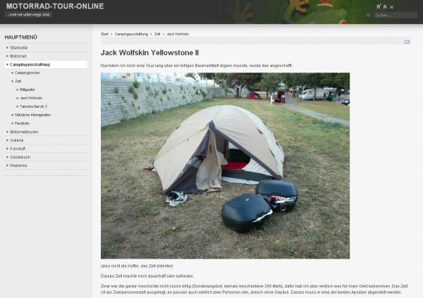 Motorrad-Tour-Online Website Torsten Schober