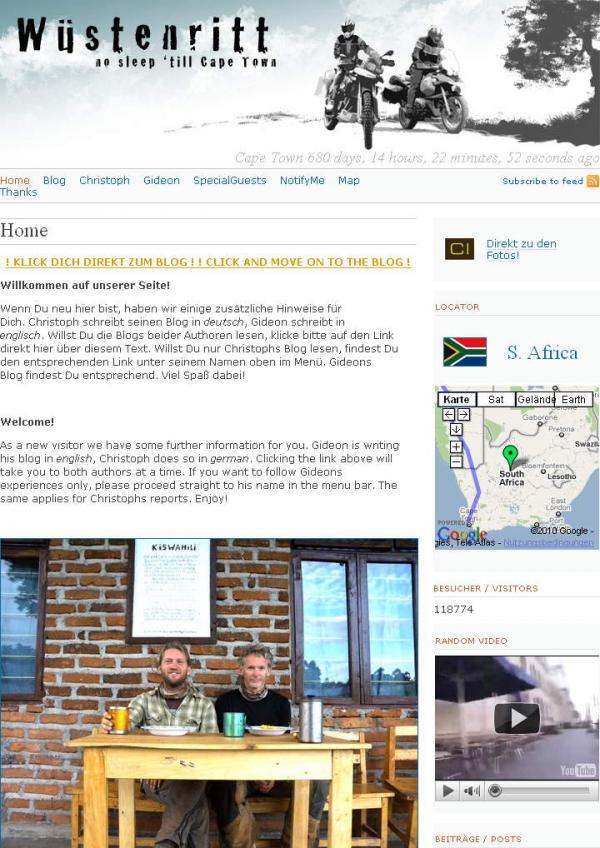 Wüstenritt Africa Motorcycle  Cape-town Enduro BMW F800GS R1200GS
