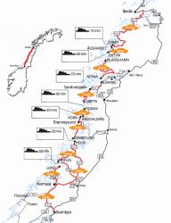 Fjordnorwegen Motorradtour 2013: Traumstraße im Reich der Mitternachtssonne (Tag 7)