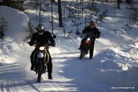 Norwegen Motorrad Winterfahren - Winter Enduro in Finnskogen