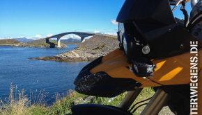 Atlanterhavsveien Norwegen Westküste Fjordnorwegen Motorrad Tour