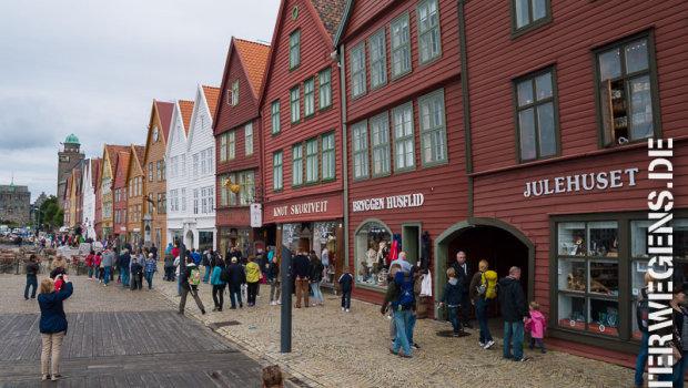 Fjordnorwegen Motorradtour 2013: Abstecher nach Bergen (Tag 11)